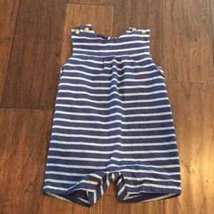 Janie and Jack Blue Striped One Piece